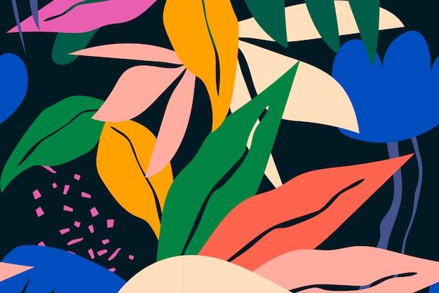 Funky blad achtergrond naadloze patroon vector