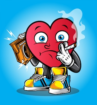 Funky hartkarakter