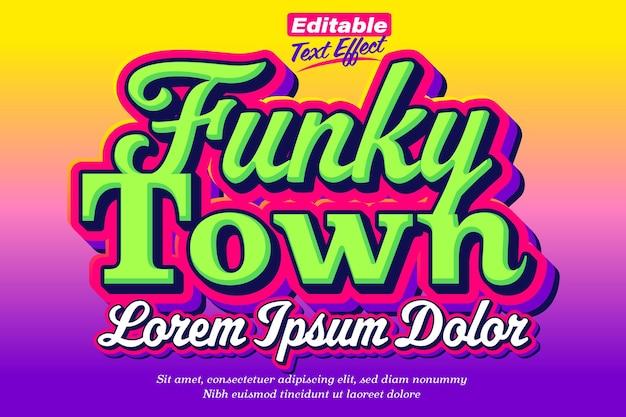 Funky town groovy retro teksteffect