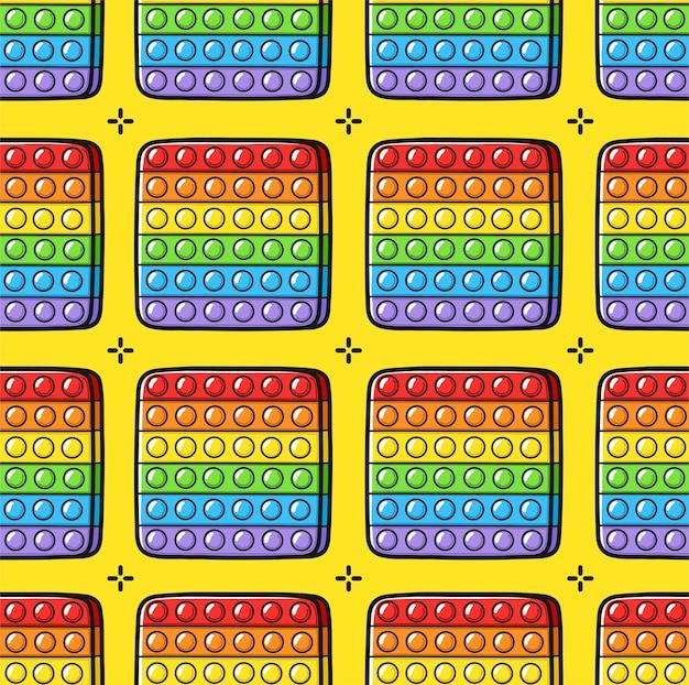 Funny pop it fidget sensorisch speelgoed naadloos patroon