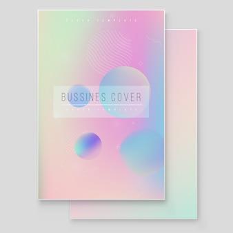 Furistische moderne holografische coverset. 90s, 80s retrostijl. hipster stijl grafische geometrische holografische elementen. digitaal hoesontwerp voor uw bedrijf met hoes voor abstracte lijnen en holografie