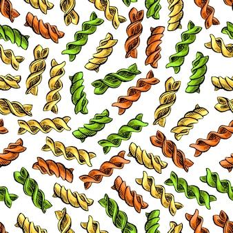 Fussili naadloos patroon