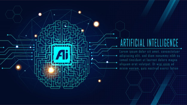 Futuristisch ai-concept