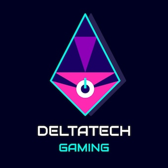 Futuristisch deltatech-gaminglogo