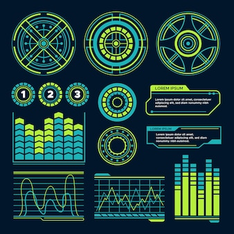 Futuristisch infographicsontwerp