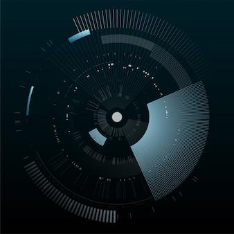 Futuristisch interface-element. technologie cirkel. digitale futuristische gebruikersinterface