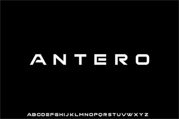 Futuristisch modern geometrisch lettertype