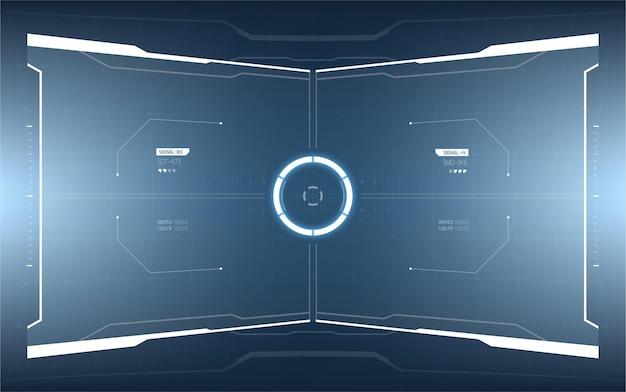 Futuristisch ontwerp van head-up display-elementen.