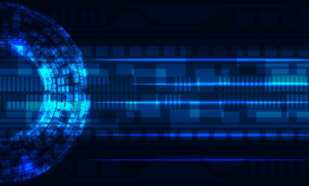Futuristisch radiaal cirkel digitaal circuit virtueel