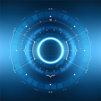Futuristisch sci-fi hud-cirkelelement. virtual reality technology-scherm.