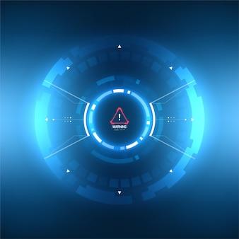 Futuristisch sci-fi vector hud-interface schermontwerp. virtual reality-technologie zoekerweergave