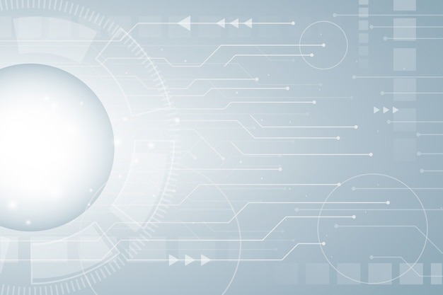 Futuristisch technologiebehang