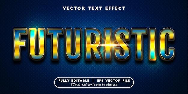 Futuristisch teksteffect, bewerkbare tekststijl