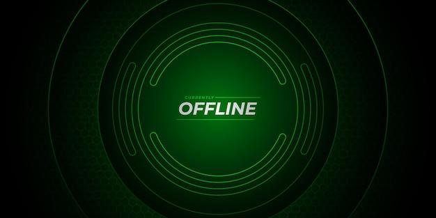Futuristisch twitch offline achtergrondontwerp