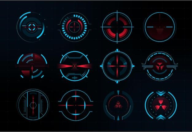 Futuristisch vizier en modern richtsysteem
