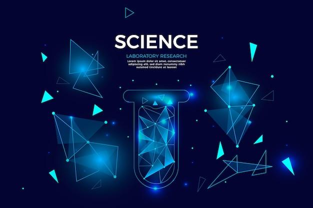 Futuristisch wetenschappelijk laboratoriumbehang