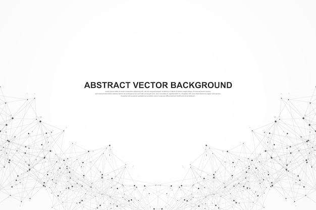 Futuristische abstract vector achtergrond blockchain-technologie. diepe webachtergrond. peer-to-peer netwerk bedrijfsconcept. wereldwijde cryptocurrency blockchain vectorbanner. golfstroom