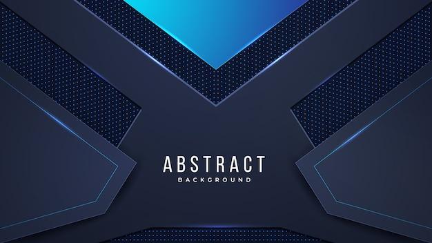 Futuristische abstracte achtergrond met combinatie gloeiende lichte stippenlijnen