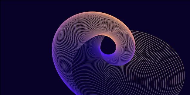 Futuristische abstracte achtergrond met lijnwerveling, sjabloon voor bestemmingspagina, dekking, banner, folder. modern design met lichtgevend element