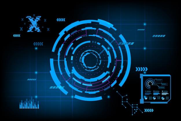 Futuristische abstracte achtergrond. toekomstige thema concept achtergrond. datadashboard, graph, panel digitaal concept