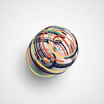 Futuristische abstracte vormillustratie