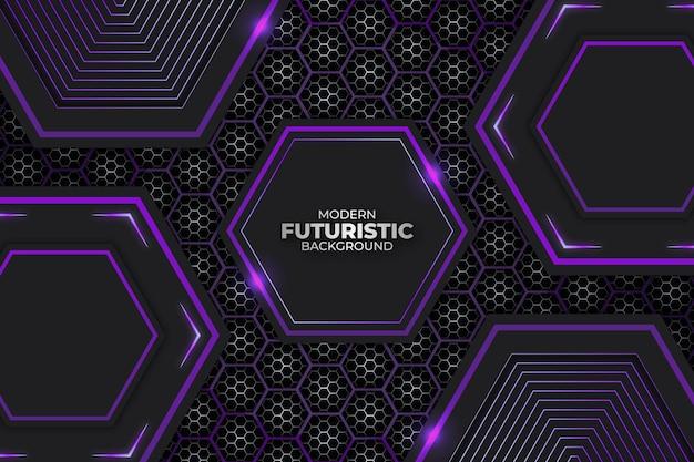 Futuristische achtergrond donker en paars