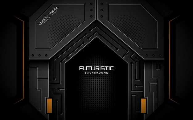 Futuristische achtergrond in donkere stijl