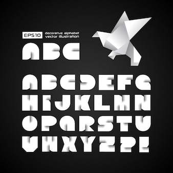 Futuristische alfabet