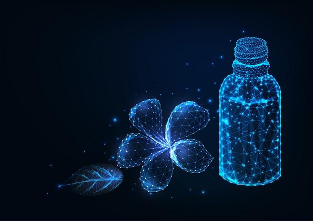 Futuristische aromatherapie, etherische oliën, spa.