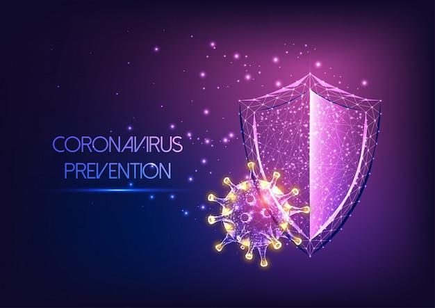 Futuristische bescherming van het immuunsysteem tegen het coronavirus covid-19-ziekteconcept