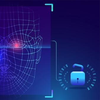 Futuristische biometrische technologie