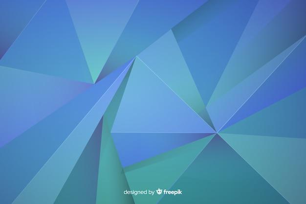 Futuristische blauwe vormenachtergrond