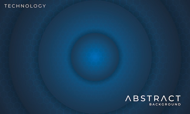 Futuristische circulaire technische achtergrond met zeshoek lichteffect