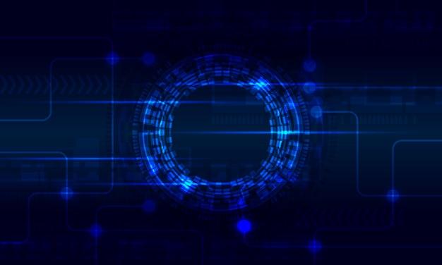 Futuristische cirkel radiaal digitale circuit virtuele abstracte achtergrond