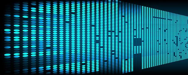 Futuristische digitale netwerktechnologie blauw abstract gebruik als achtergrond en behang