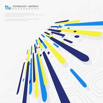 Futuristische dynamische compositie