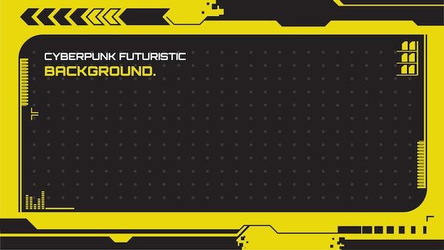 Futuristische en abstracte cyberpunkachtergronden. geschikt voor presentatie enz.