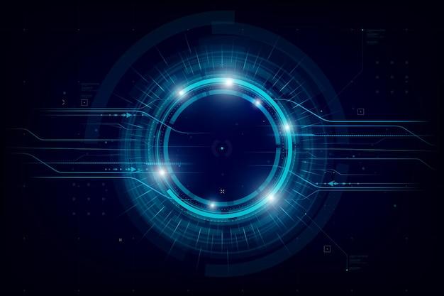 Futuristische en technologie donkerblauwe achtergrond