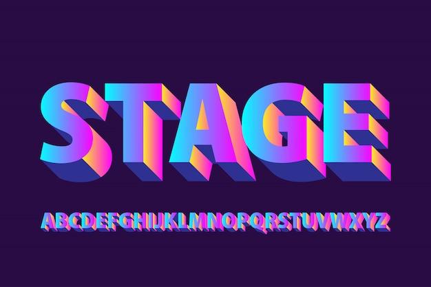 Futuristische fase verloop alfabetten