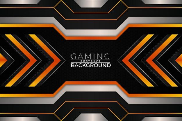 Futuristische gaming achtergrond oranje stijl