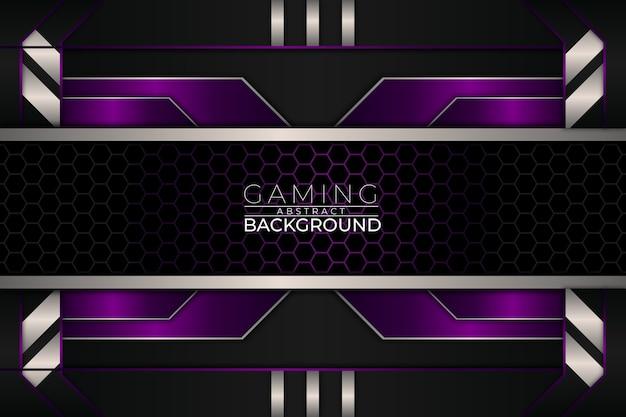 Futuristische gaming achtergrond paarse stijl
