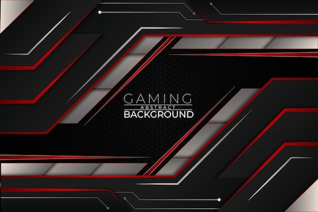 Futuristische gaming achtergrond rode stijl