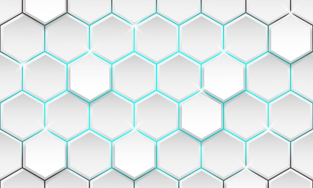 Futuristische geometrische achtergrond, moderne zeshoek achtergrond