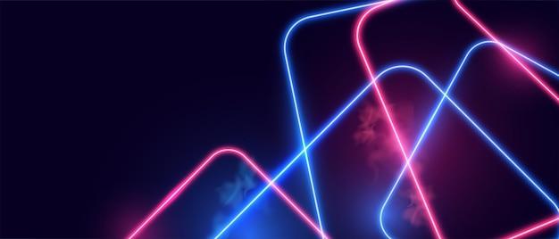 Futuristische gloeiende neonlichten achtergrond