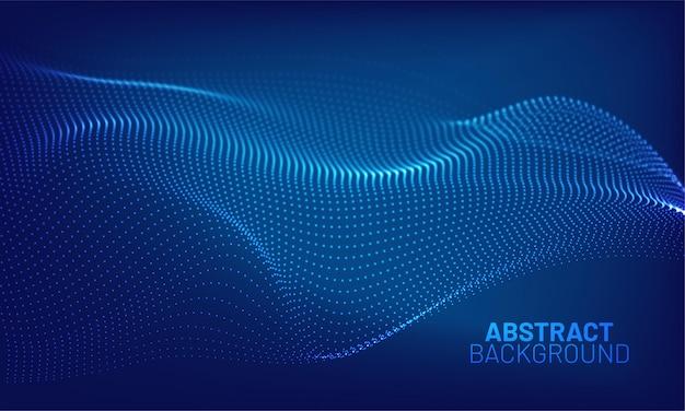 Futuristische golf abstracte achtergrond. golvende lijnpunten. technologie concept. big data.