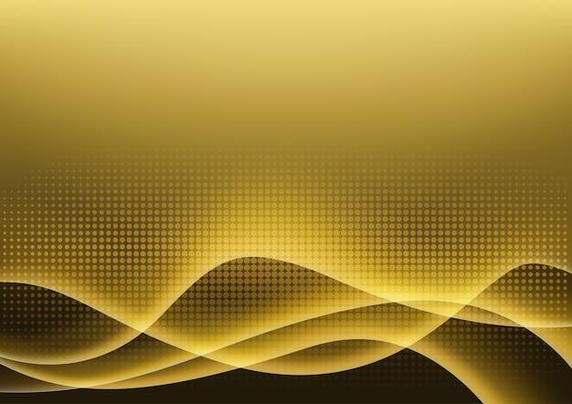 Futuristische gouden lichte gloeiende achtergrond