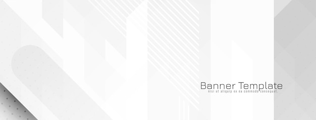 Futuristische grijze en witte crsytal mozaïek geometrische banner vector