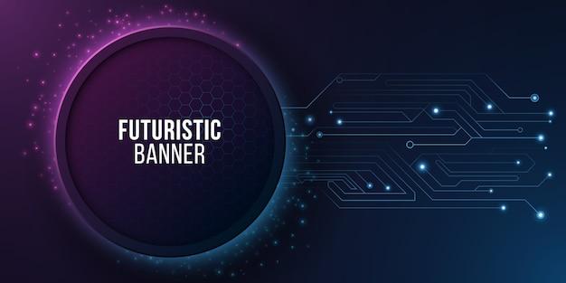 Futuristische high-tech banner met computercircuit.
