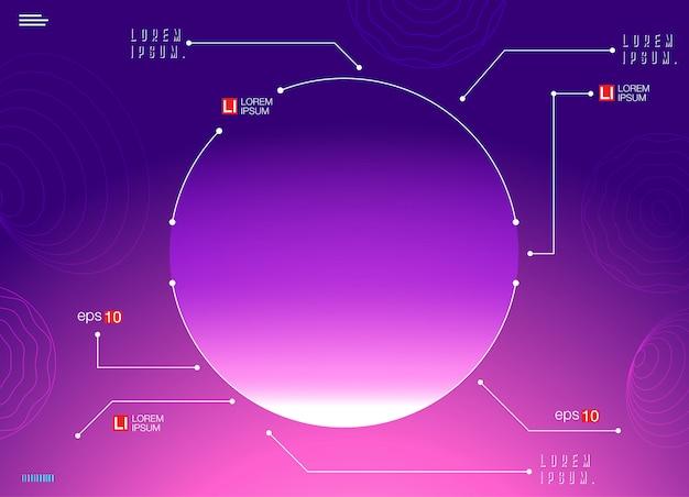 Futuristische horizontale vector verloop neon achtergrond
