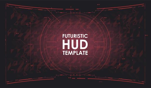 Futuristische hud-achtergrond. dashboard ruimtevaartuig. head-up schermen voor videogames, apps, films. sci-fi-sjabloon. toekomstige technologie. hi-tech ontwerp.